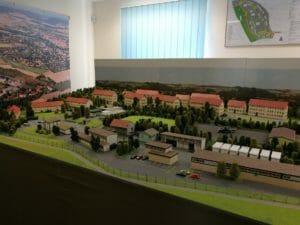 Modell der Kaserne